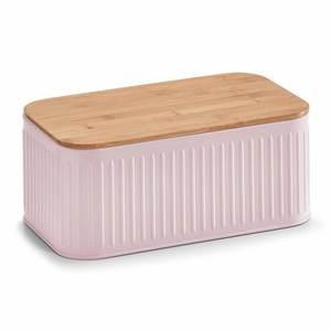 ZELLER kutija za kruh s poklopcem od bambusa, roza 25160
