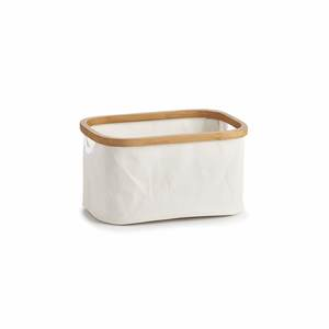 ZELLER košara za odlaganje, bambus i platno, 30x20x16 cm 14236