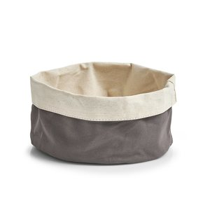 ZELLER platnena košara za kruh 20x12 cm, antracit-bež 18002