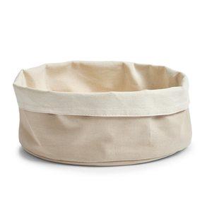ZELLER platnena košara za kruh 25x13 cm, sivo-bež 18005