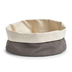 ZELLER platnena košara za kruh platnena 25x13 cm, antracit-bež 18006