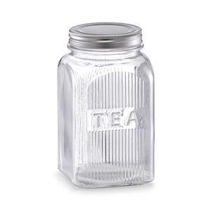 """ZELLER staklenka """"Tea"""", 1150 ml, staklo i metal 19505"""