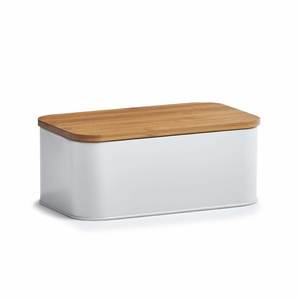 ZELLER kutija za kruh, bambus/metal 25370