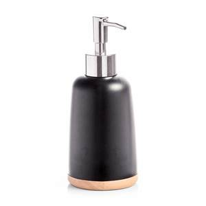ZELLER dozator za sapun, polyresin/drvo, crni 18840
