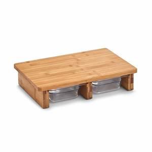 ZELLER stanica za rezanje, bambus/plastika 25178