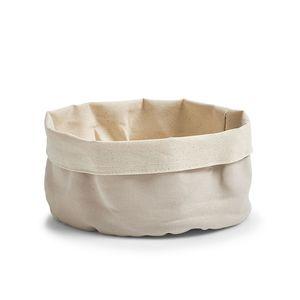 ZELLER platnena košara za kruh 20x12 cm, siva-bež 18001