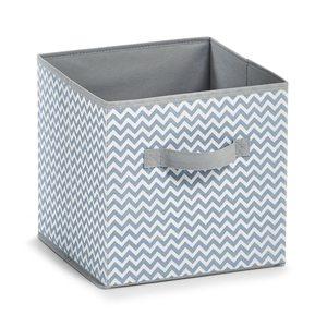 ZELLER kutija za odlaganje, sklopiva, bijelo/siva, 26x26x26 cm 14621