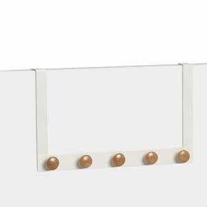 ZELLER vješalica za odjeću za vrata, metal/drvo 41x5x25 cm 13814