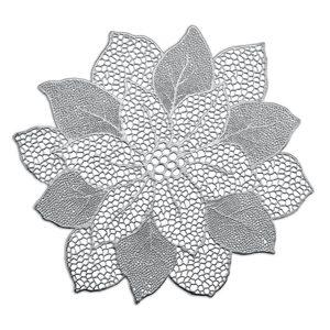 """ZELLER podloga """"Flower"""", srebrna 26916"""