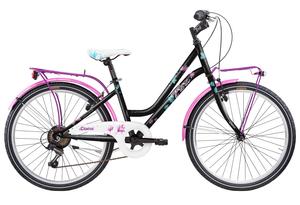 FRERA dječji bicikl DIVINA 24 6 VEL 14 crno/rozi