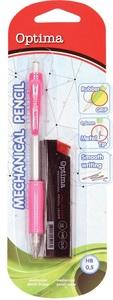 Tehnika olovka 0,5 OPTIMA Grippy sort boja + mine 0,5, roza