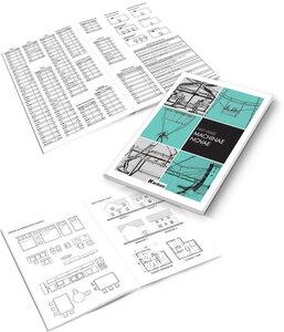 Bilježnica KARBON Tehnički s memom, A4, geometrijska, tvrdi uvez