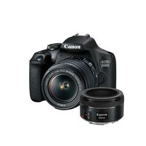 Canon Digitalni fotoaparat EOS 2000D BK 18-55 IS+50 1.8S SEE