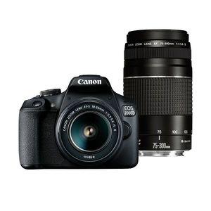 Canon Digitalni fotoaparat EOS 2000D BK 18-55 IS +75-300