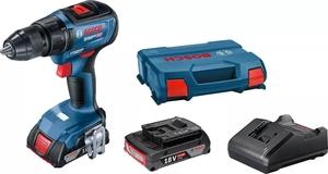 BOSCH Professional akumulatorska bušilica-izvijač GSR 18V-50 (2x 2,0 Ah + GAL 18V-20, L kovčeg)