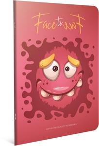 Bilježnica Face to Face, A4, kvadratići, meke korice