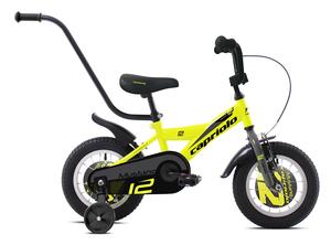 "CAPRIOLO dječji bicikl BMX 12""HT MUSTANG žuto/crni"