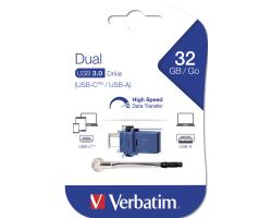 USB memorija Verbatim USB3.0/USB-C Store'n'Go Dual 32GB, crno-plavi