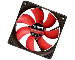 Xilence ventilator za kućište 120×120×25mm, crno/crveni