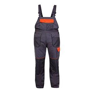 PROLINE hlače s naramenicama grafit-narančaste M(50) L4060350