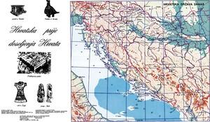 HRVATSKA PRIJE DOSELJENJA HRVATA, priručna karta