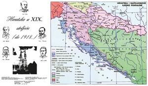 HRVATSKA U XIX. STOLJEĆU (do 1918. god.), priručna karta