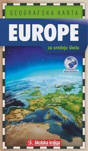 GEOGRAFSKA KARTA EUROPE 1: 12 500 000