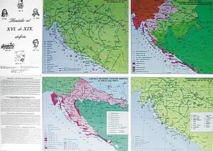 HRVATSKA od XVI. do XIX. STOLJEĆA, priručna karta (presavijena)