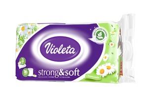 Violeta toaletni papir 16/1, 3 sl., strong&soft kamilica