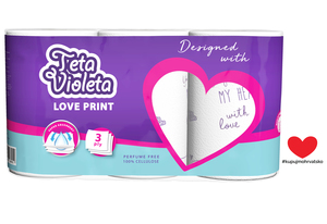 Kuhinjski ručnik Teta Violeta 3/1, 3 sl. LOVE