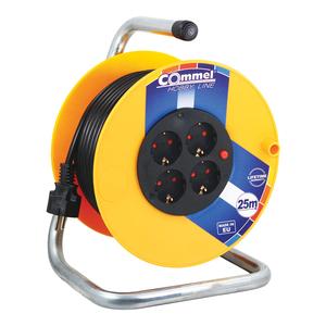 COMMEL kabelska motalica na PVC bubnju 230 mm, H05VV-F 3G1,5 / 25 m