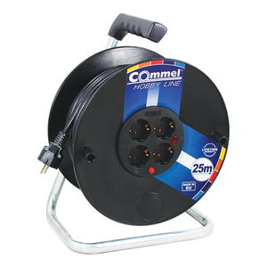 COMMEL kabelska motalica na PVC bubnju 280 mm, H05VV-F 3G2,5 / 25 m