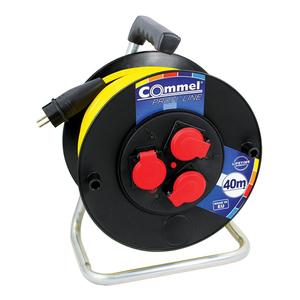COMMEL kabelska motalica na PVC bubnju 280 mm, AT N07V3V3-F 3G1,5 / 25 m