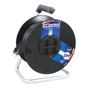 COMMEL kabelska motalica na PVC bubnju 280 mm, H05RR-F 3G2,5 / 25 m