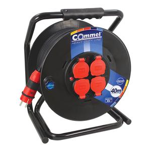 COMMEL kabelska motalica na PVC bubnju 300 mm, H07RN-F 3G1,5 / 30 m