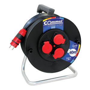 COMMEL kabelska motalica na PVC bubnju 280 mm, H05RR-F 3G2,5 / 40 m