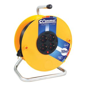 COMMEL kabelska motalica na PVC bubnju 280 mm, H05VV-F 3G1,5 / 50 m