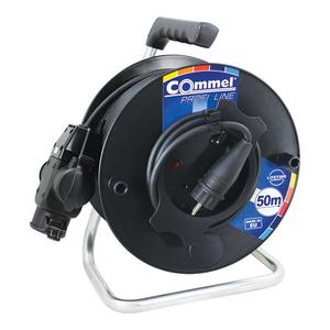 COMMEL kabelska motalica na PVC bubnju 280 mm, H05RR-F 3G1,5 / 25 m