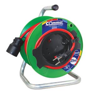 COMMEL kabelskamotalica na PVC bubnju 230 mm, H05VV-F 3G1,5 / 25 m