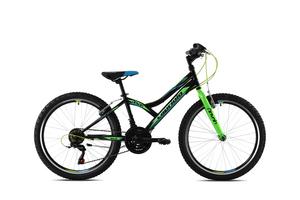CAPRIOLO dječji bicikl DIAVOLO 400/18HT crno/zeleni