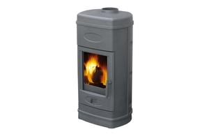Plamen peć Aurora siva