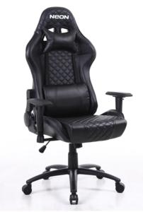 Neon Warrior gaming stolica, crna