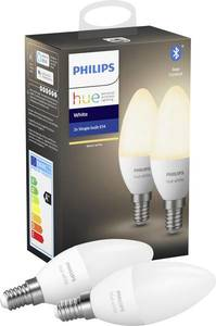 Philips HUE pametna žarulja, E14, topla bijela, 6W, BT, 2kom
