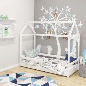 Drveni dječji krevet House 2 bijeli 200x90cm