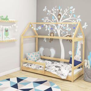 Drveni dječji krevet House 2 natur 160x80cm