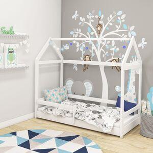 Drveni dječji krevet House 2 bijeli 140x70cm
