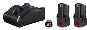 BOSCH Professional početni set 2 x GBA 12V 2,0 Ah baterija + GAL12V-40 punjač