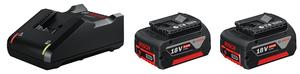 BOSCH Professional početni set 2 x GBA 18V 4,0 Ah baterija + GAL 18V-40 punjač