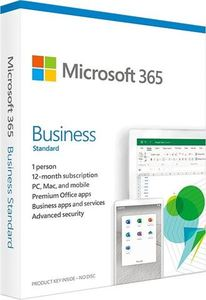 Microsoft 365 Business Standard 1YR Medialess P6 CRO, KLQ-00457