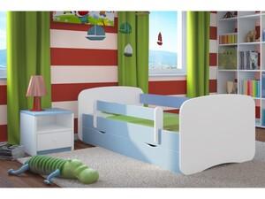 Drveni dječji krevet Perfetto s ladicom - plavi - 180*80